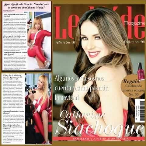 Maoly junto a los famosos en Lemode tv Magazine