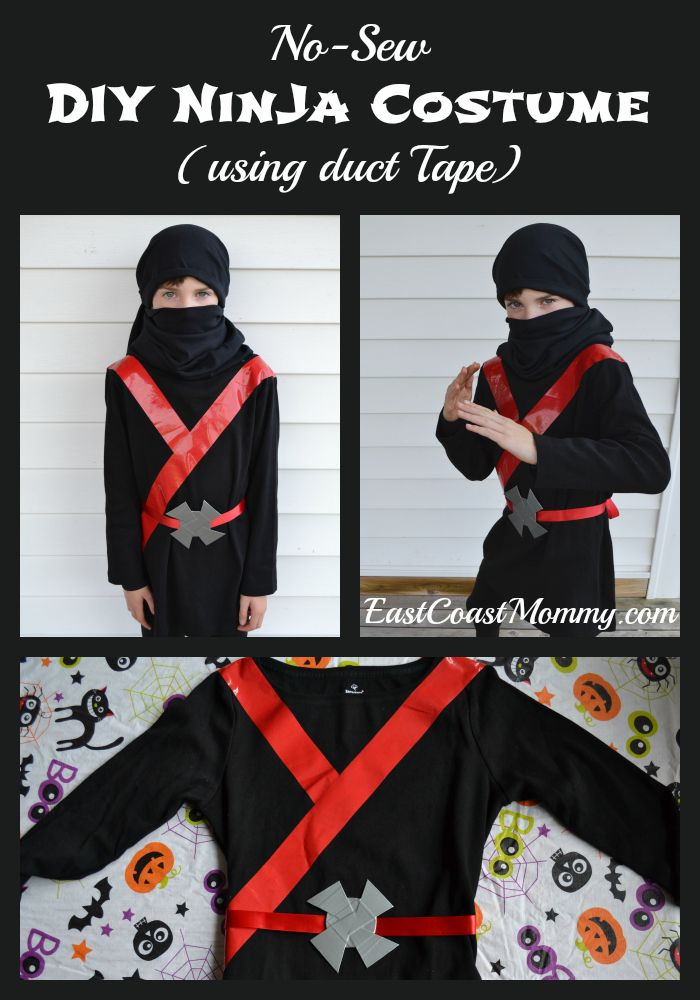 177f5eae Easy Black Ninja Costume (no sewing required) | Ninja | Diy ninja ...
