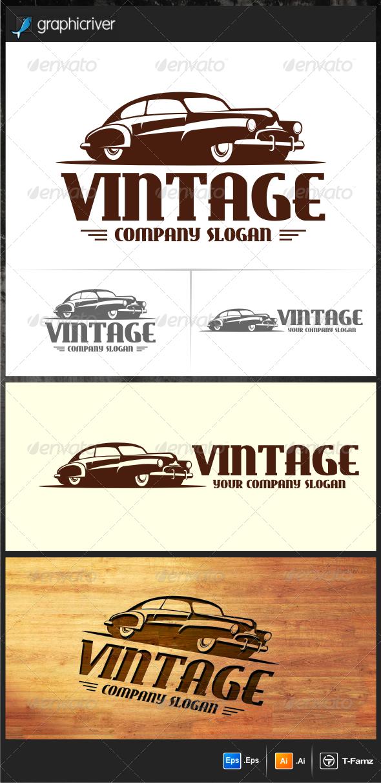 Vintage Car Logo Templates | Car logos and Logo templates