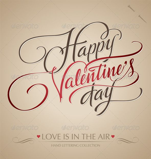 Happy Valentine S Day Hand Lettering 3 00 Typography Pinterest