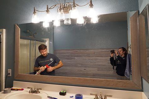 Photo of DIY Bathroom Mirror Frame for Under $10, Hello Hayley Blog