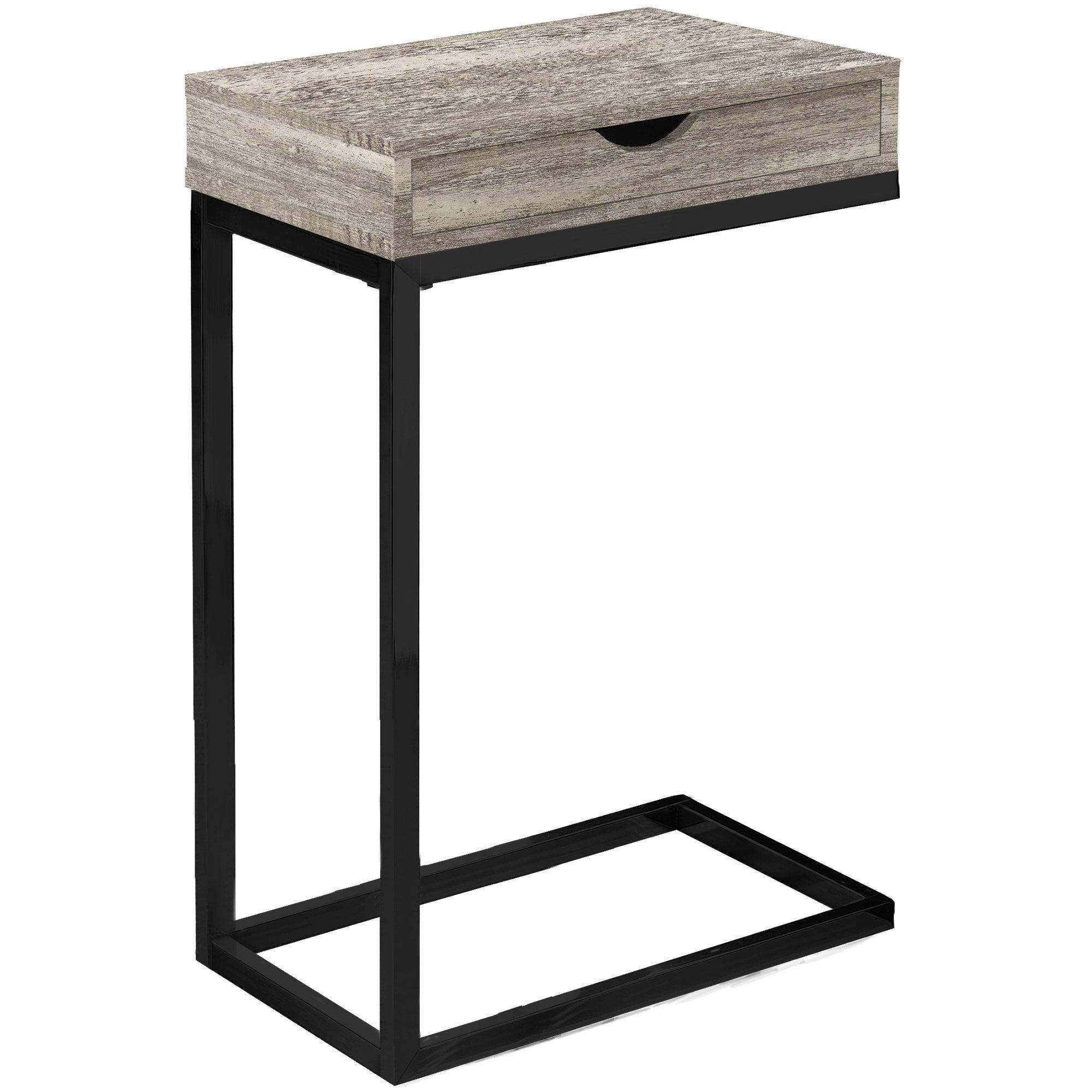 Contemporary Taupe Accent Table With Drawer In 2020 Wood End