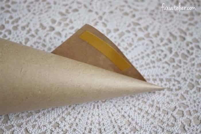 Cones Em Papel Kraft Para O Arroz E As Petalas Arroz Casamento