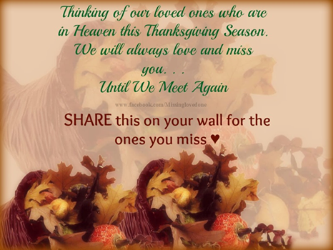 quotes happy thanksgiving holiday traditions missing loved ones ...