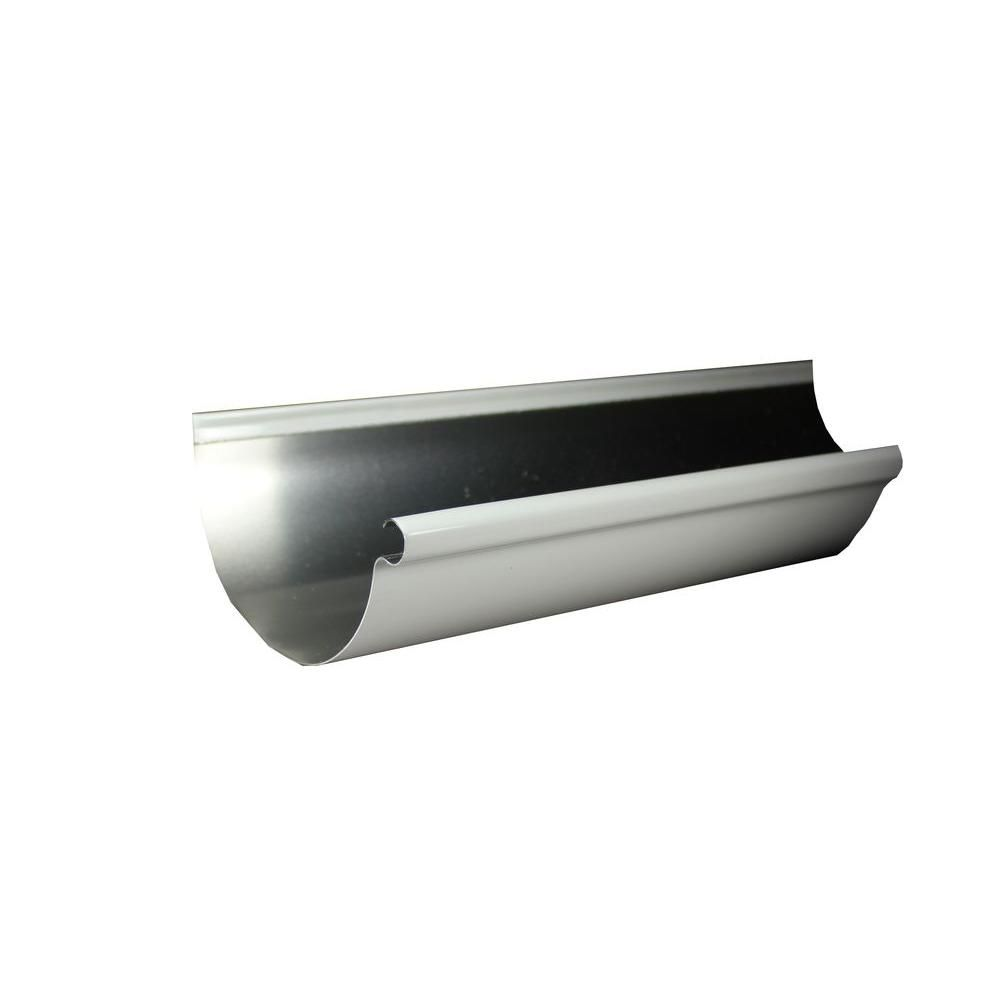 Spectra Metals 6 In X 10 Ft Half Round High Gloss White Aluminum Gutter 6hrrt8w10 The Home Depot In 2020 High Gloss White High Gloss Metal