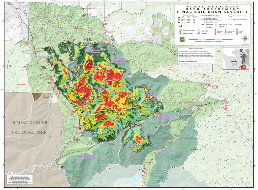 Washington Wildfire Map 2017.Norse Peak American Fires Central Washington Fire Recovery 2017