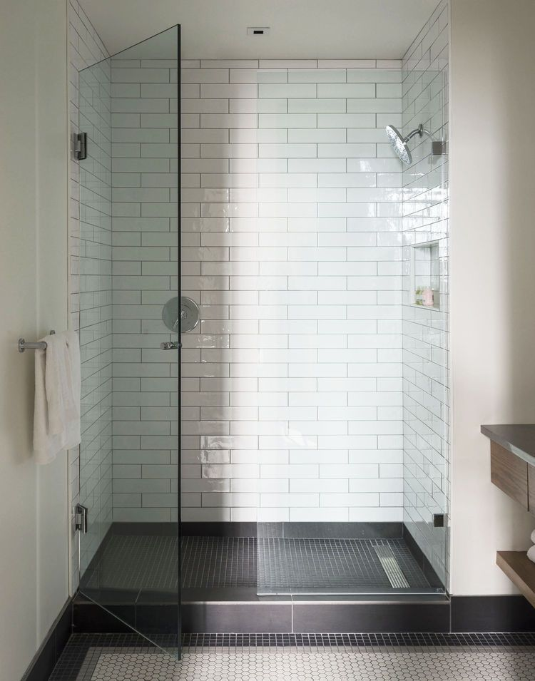 Walk In Rainfall Shower Bathroom Design House Bathroom Small