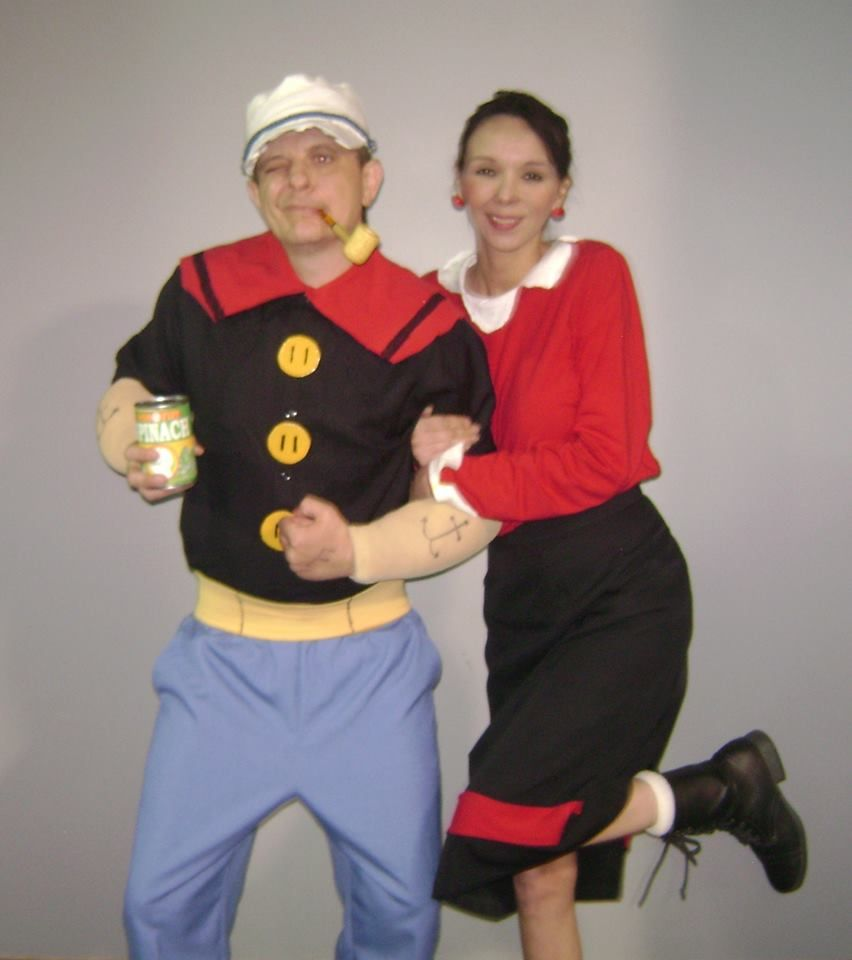 Popeye olive oyl cute couple halloween costume homemade my halloween costumes popeye olive oyl cute couple halloween costume homemade solutioingenieria Images