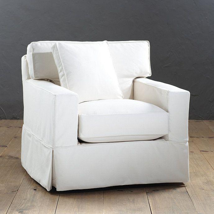 Graham swivel chair slipcover ballard designs