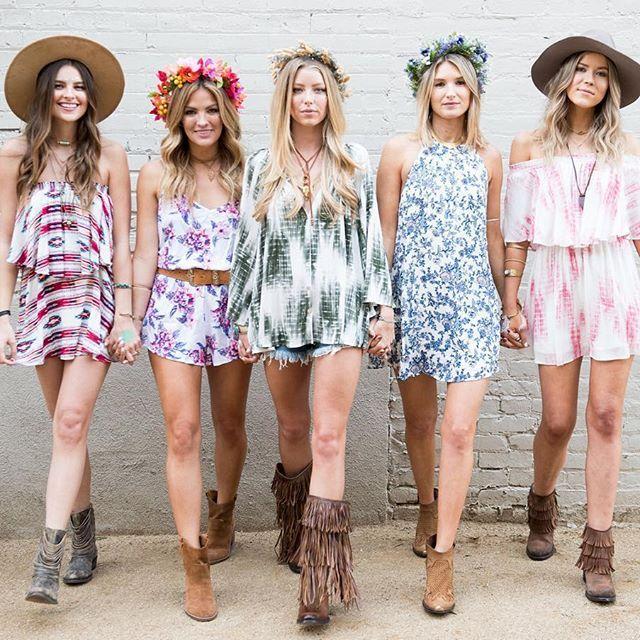 Girl Squad Mumufestival Street Style Pinterest Coachella Girls And Boho