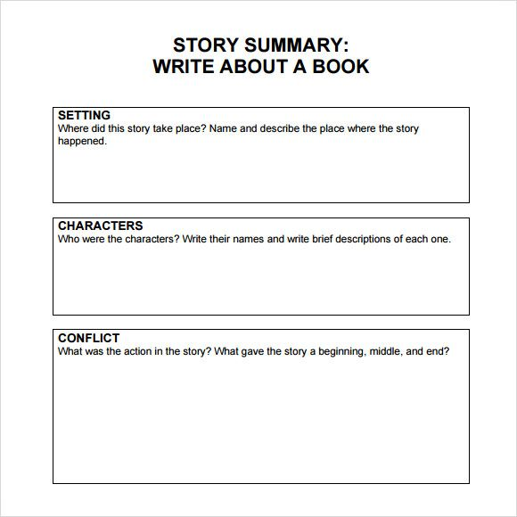 Book Summary Template Middle School | Book summary | Pinterest ...