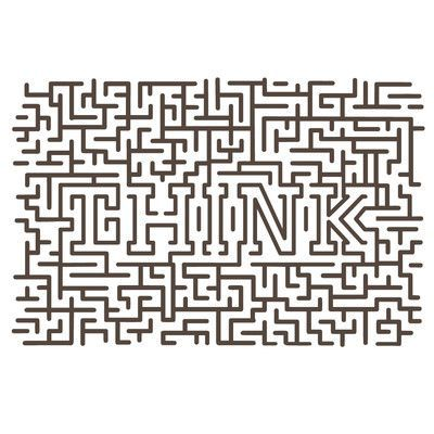 The Decal Guru Think Maze Wall Decal Color: Brown