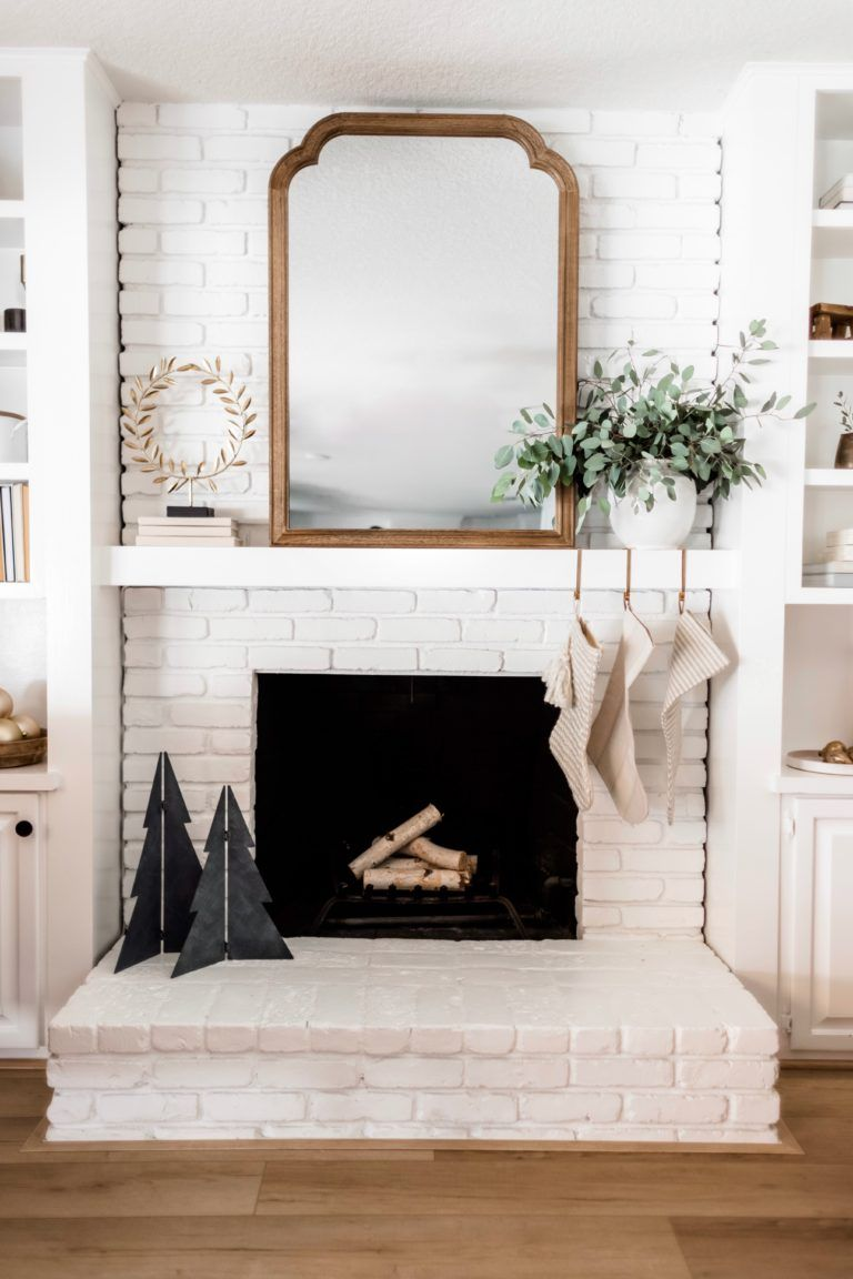 Transitional Fireplace Decor Fall To Christmas Fireplace Decor Transitional Fireplaces Christmas Fireplace Decor