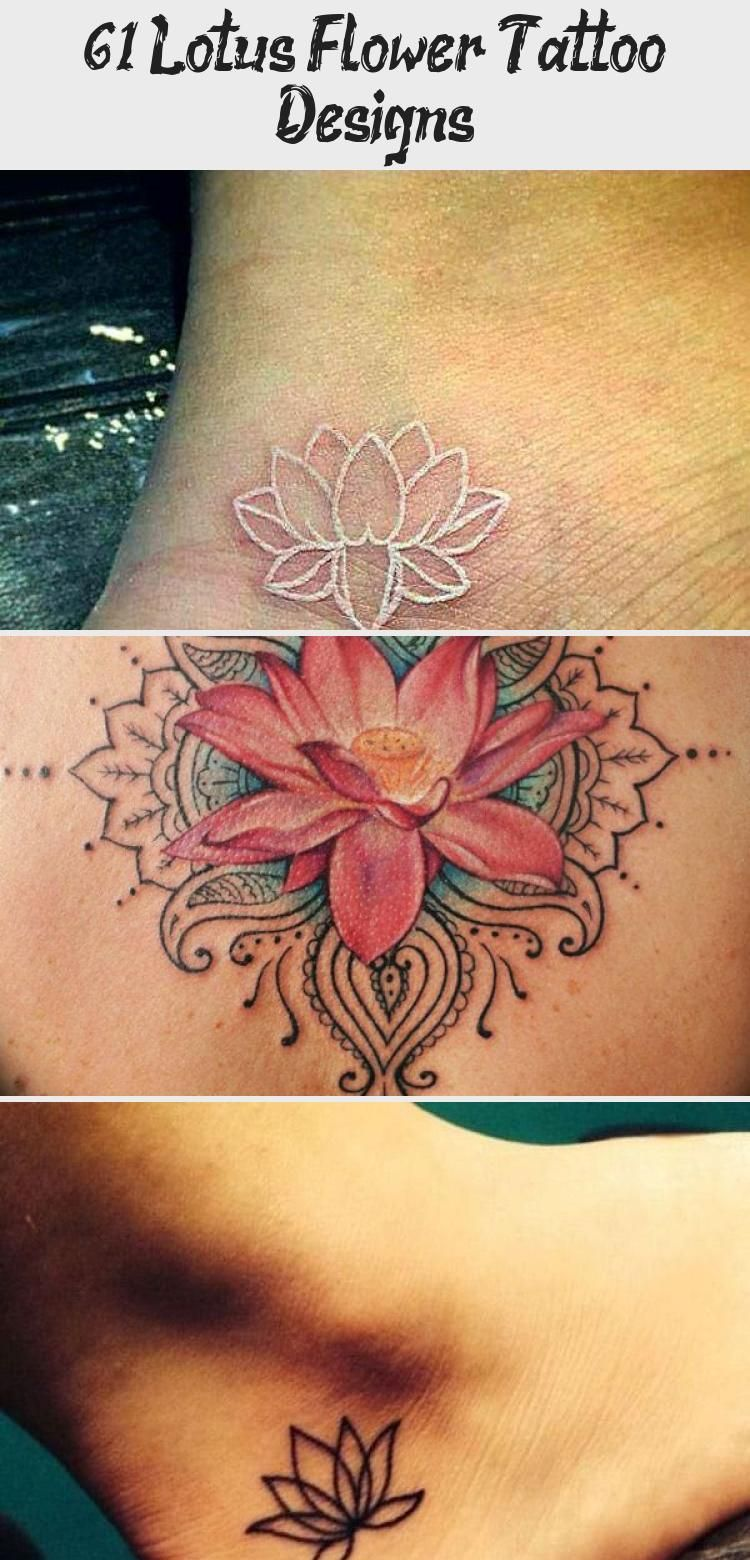 Cute Small Ankle Lotus Flower Tattoo Cute Colored Black And White Large And Small Lotus Tatto In 2020 Lotus Flower Tattoo Small Lotus Flower Tattoo Flower Tattoo