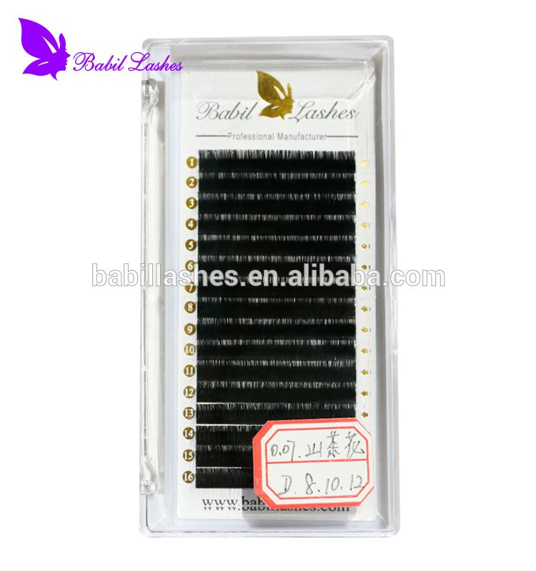 75d25ab33bf Wholesale Private Label Top Quality Soft and Natural China Camellia Eyelash  Extension