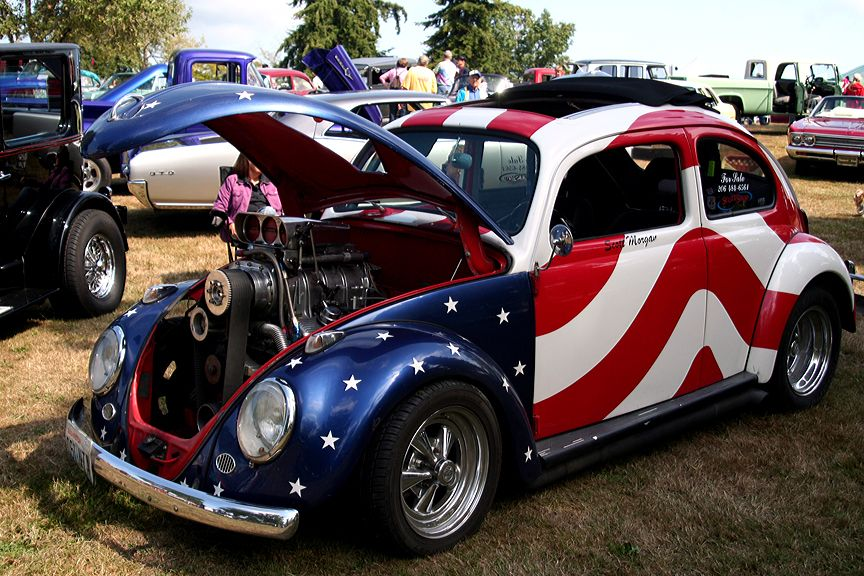 I Saw This Volkswagen Done Up Like A Old Led Sled Merc And Had To