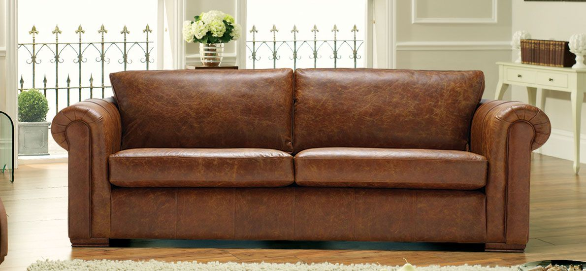 Sofa Tables Aspen Seater Sofa in Leather Minimalistic yet stylish and pliments a wide range of living room styles warranty fast UK delivery and day returns