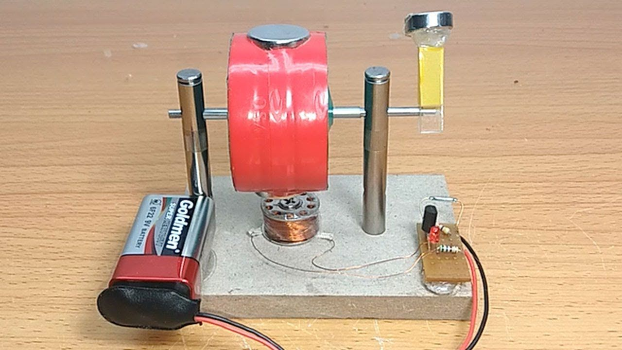 How to make a simple electric MOTOR and Magnetic