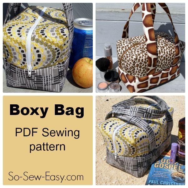 The Boxy Bag Pattern and kits | Beach travel, Lunch box and Lunches
