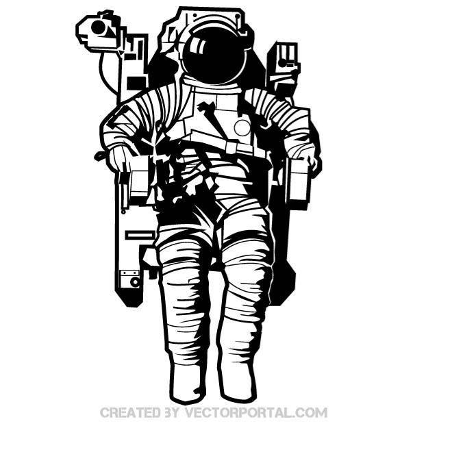 astronaut in space vector art - photo #3