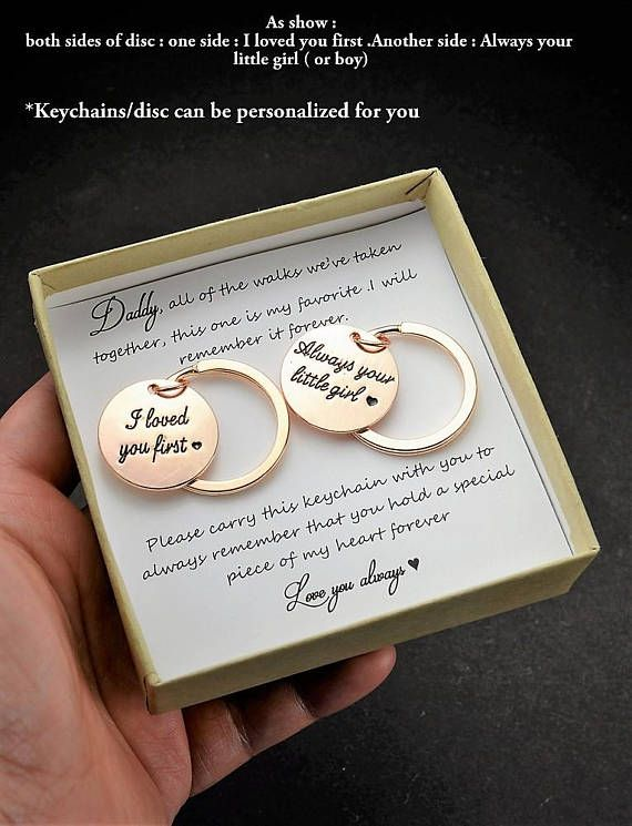 Father Of The Bride Gift All Walks Dad Key Chain Daughter To Gifts For Wedding Favors Mother