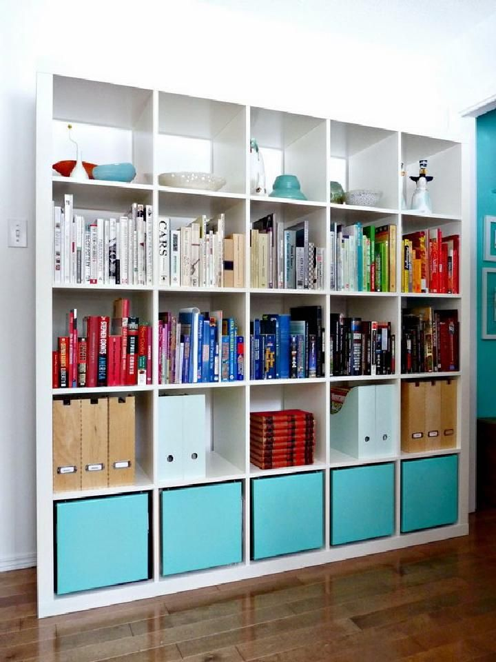 Diy Kallax Bookshelf With Storage 60 Ikea Shelf Hacks Or Expedit Crafts