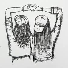 Image Result For Best Friends Drawing Ideias Esboco Desenhos De