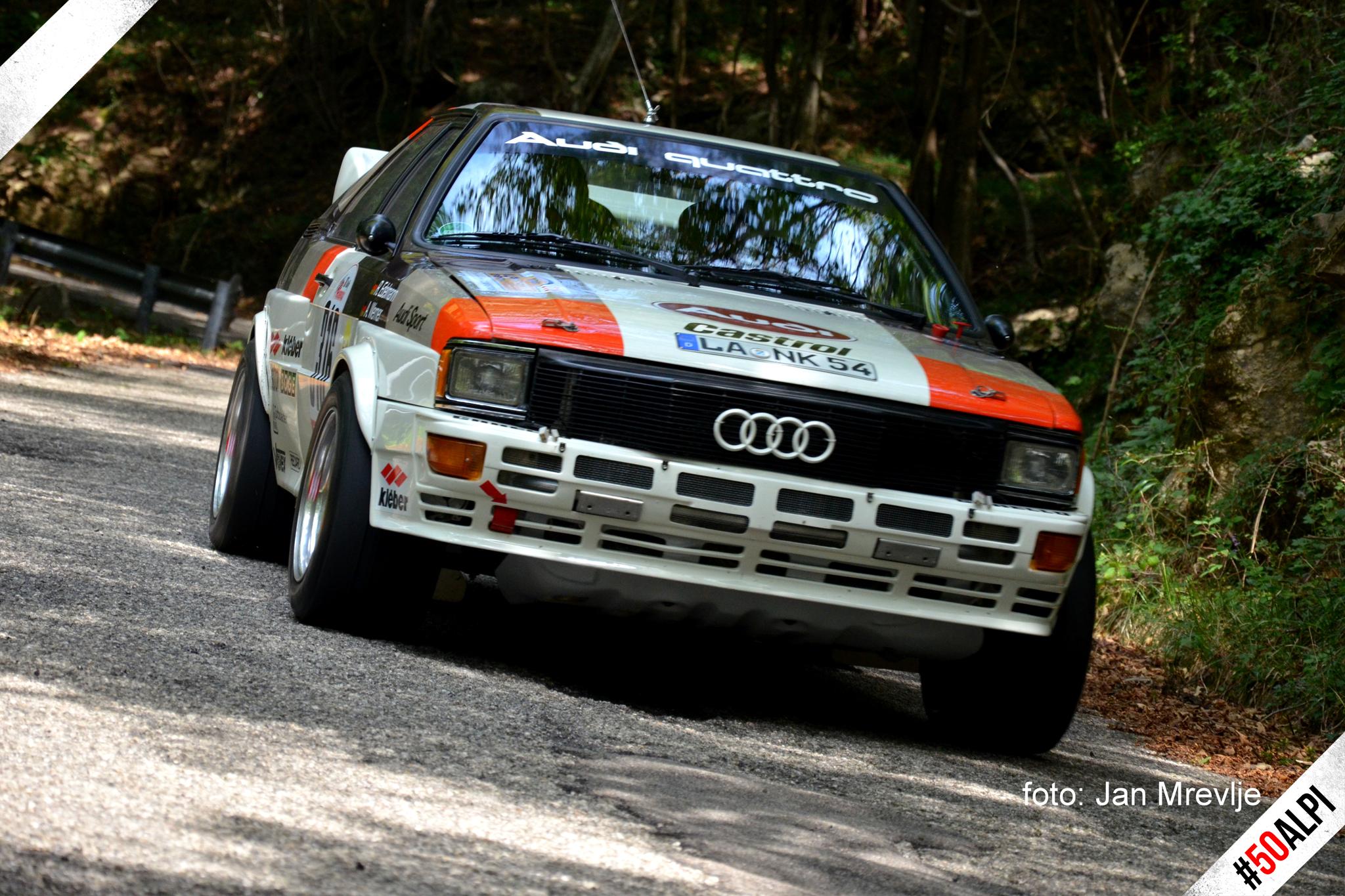 Awesome Audi Quattro at the Rally Alpi Orientali Historic