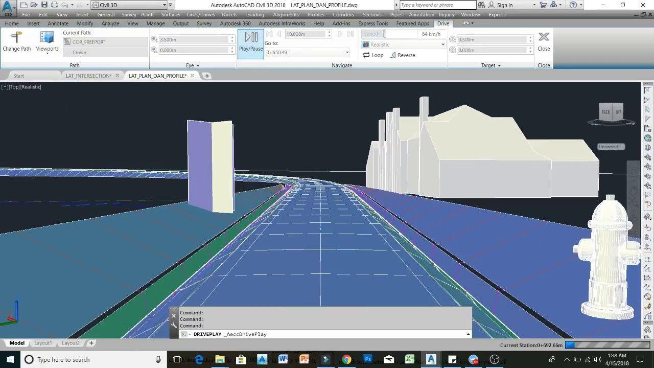 35 How to insert 3d Block in Corridor Civil3D | Training Civil3D
