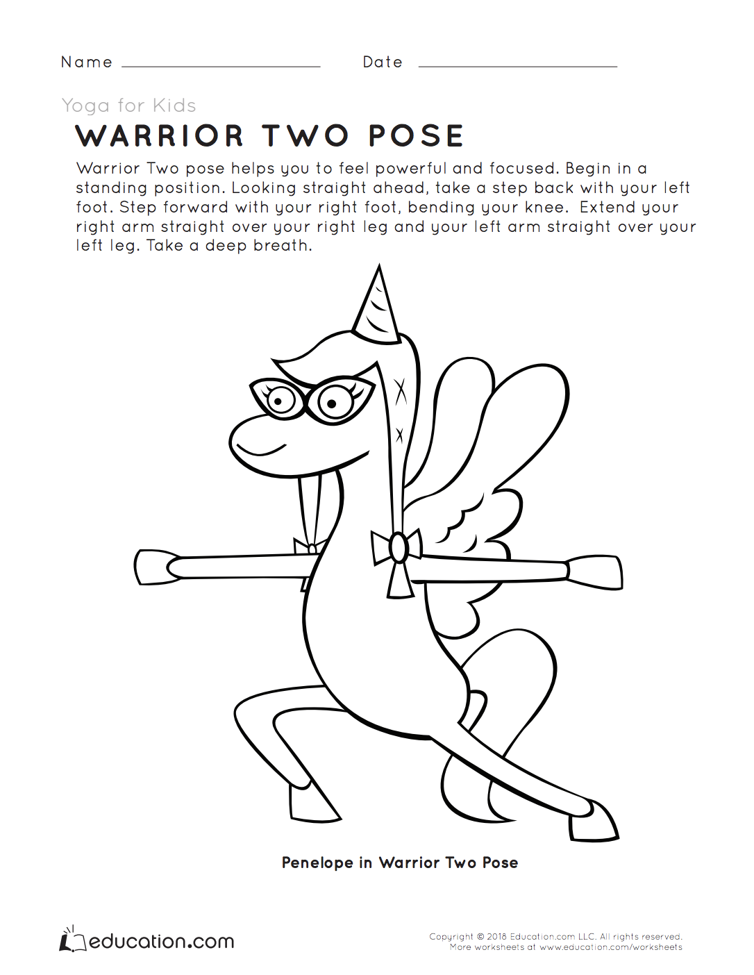 Yoga For Kids Warrior Two Pose