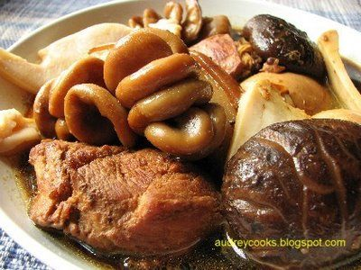 Audrey cooks braised pork belly and baby pig intestines foods cuisine forumfinder Images