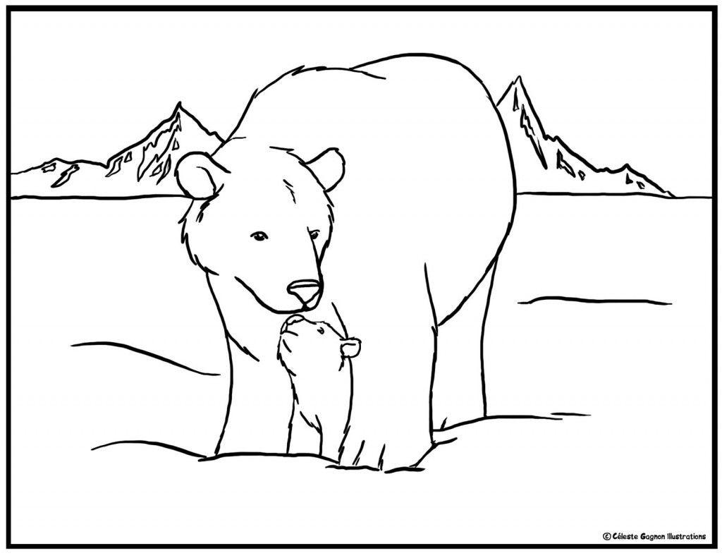 Polar Bear Coloring Pages Winter Preschool Activities Polar Bear