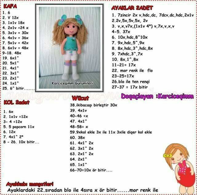 Çok güzel.. en kısa zamanda yapcam.. | boneca de croché africanas ...