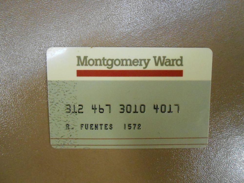 Vintage Montgomery Ward Phone Card Credit Card Phone Card Retail Signs Credit Card Design