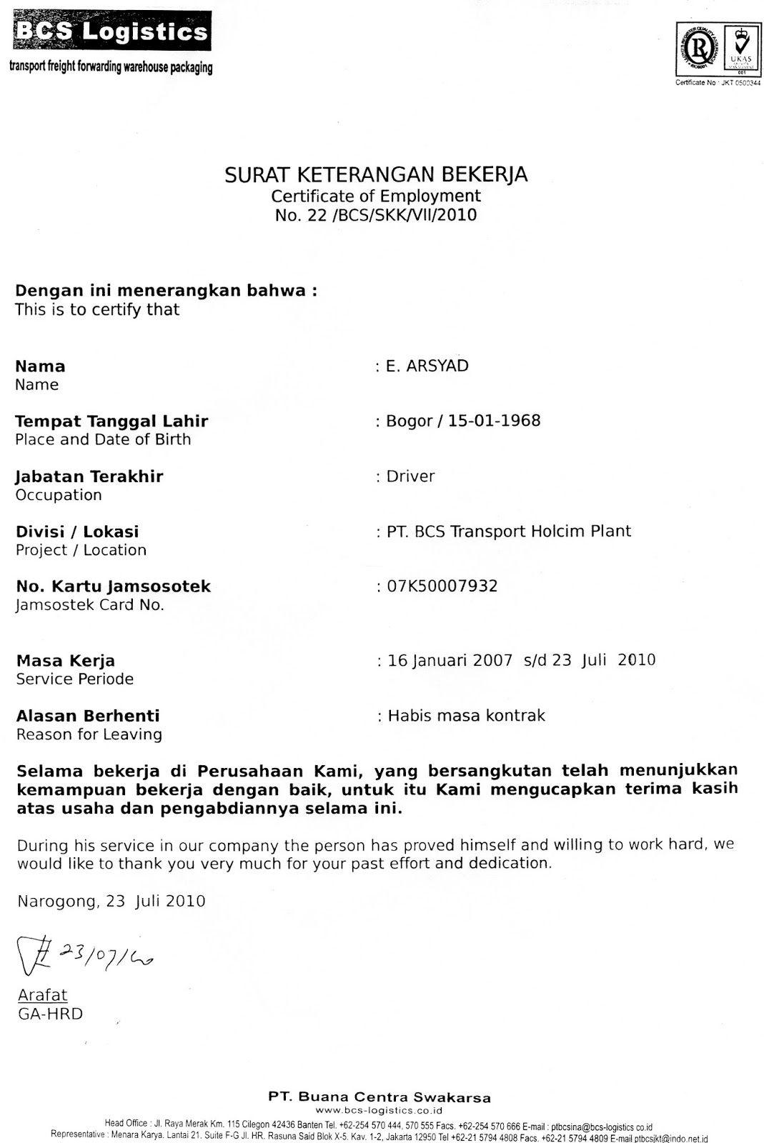 Contoh Surat Perjanjian Kerjasama Dalam Bahasa Inggris ...