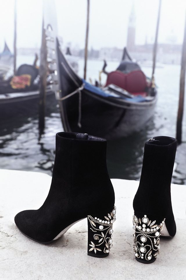 c14b72576c9b1 Rene Caovilla SUEDE ANKLE BOOTS WITH PEARLS | Rene Caovilla | Shoes ...