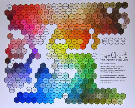 Copic Marker Color Chart Hex Artcalligraphy Copic Marker Color