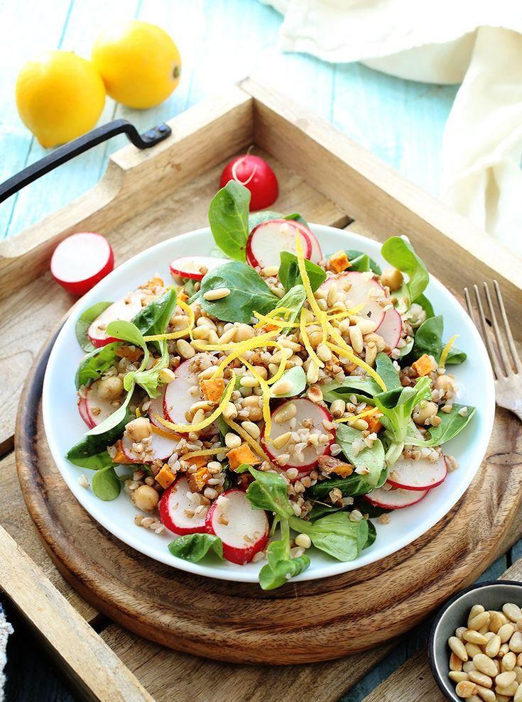 Buckwheat Salad With Roasted Sweet Potato