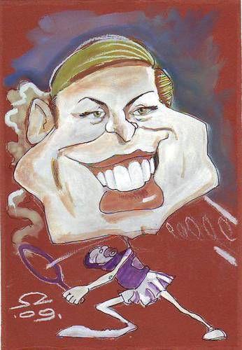 Cartoon: Kim Clijsters (medium) by zed tagged kim,clijsters,belgium,tenis,sport,baby,famous,people,portrait,caricature