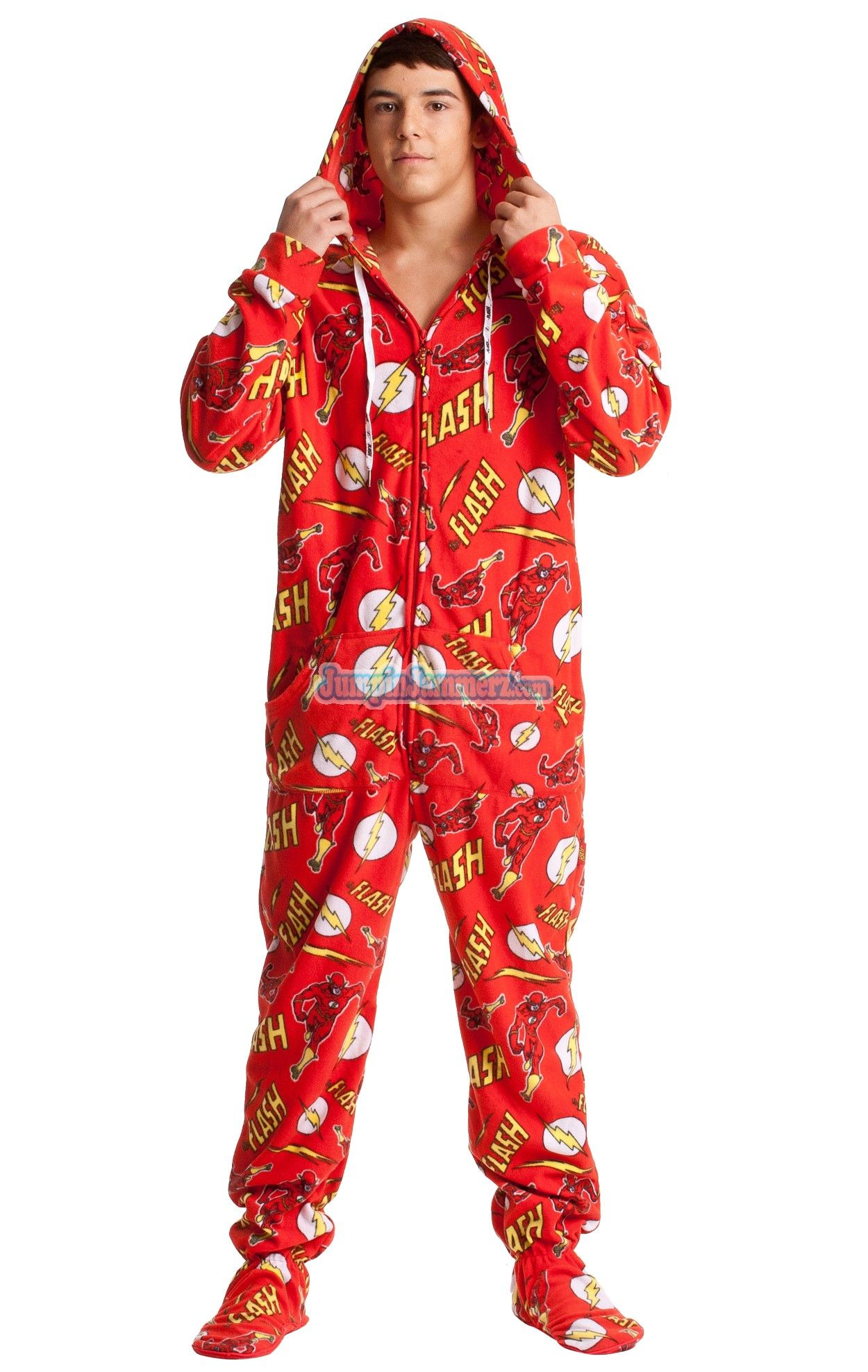78233bce67 Buy The Flash Adult Onesie Pajamas from DC Comics Online | #1 Pajama Store
