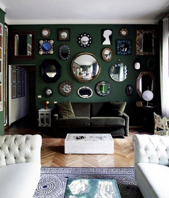 A Dozen Beautiful Living Rooms With Dark Walls