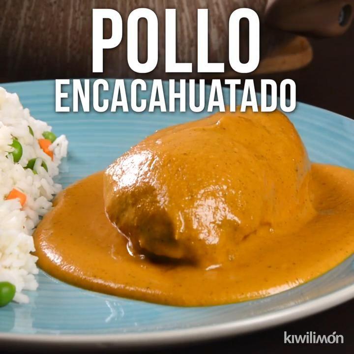 Video de Pollo con Salsa de Cacahuate #foodrecipies
