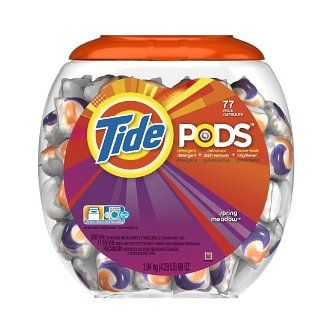 If your kids (or husband, ha!) does laundry-- or if you do yours in a laundromat-- or have a kid in college- or perfect for traveling! these are a WAY fabuLESS idea AND deal! Tide Detergent Pods-- as low as $.25/each SHIPPED-- no more guessing, no more spills-- just pop it in and boom! you're done-- fabuLESS! Check 'em out here: http://amzn.to/HPFxHf