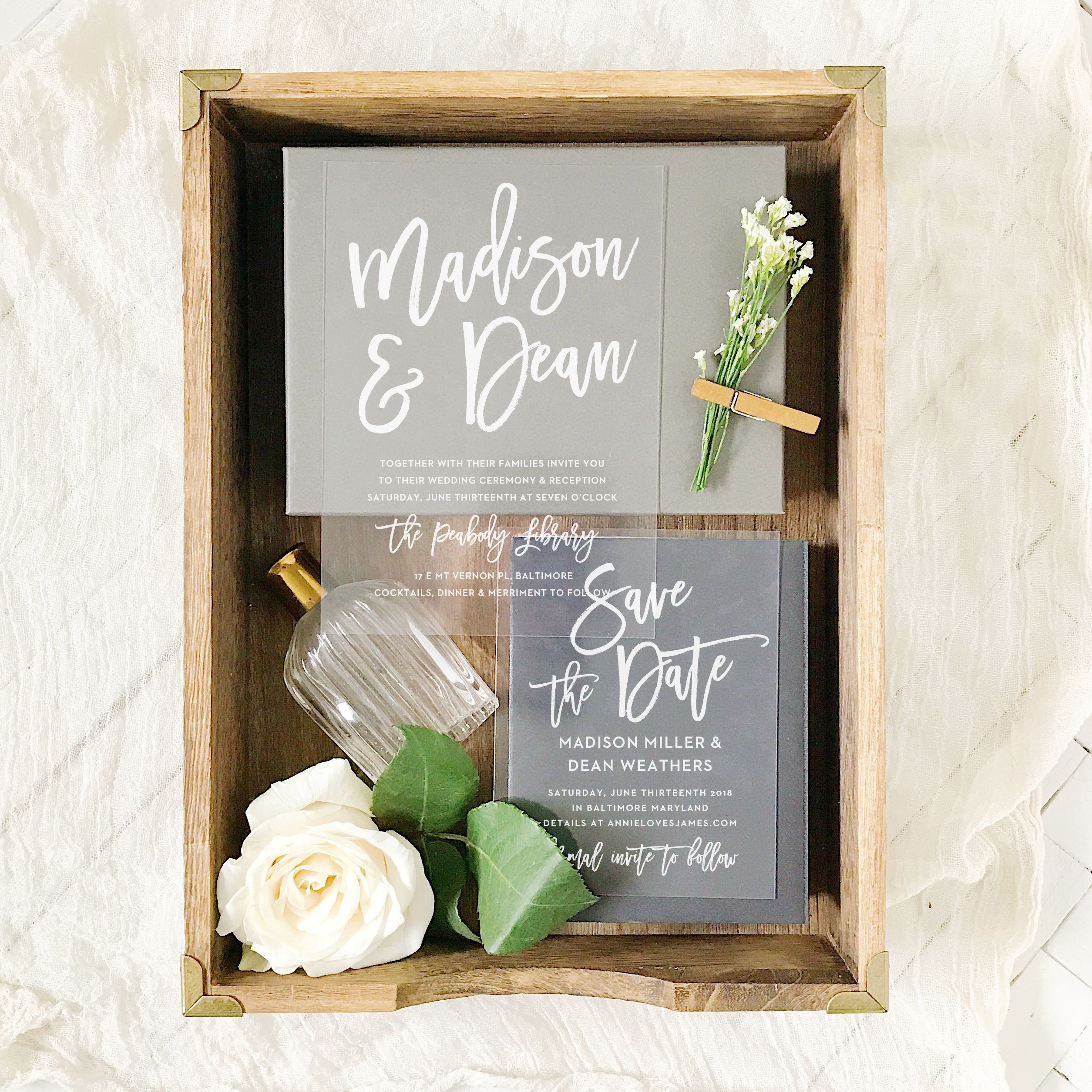 Marker Script Clear Wedding Invitations Wedding styles Weddings