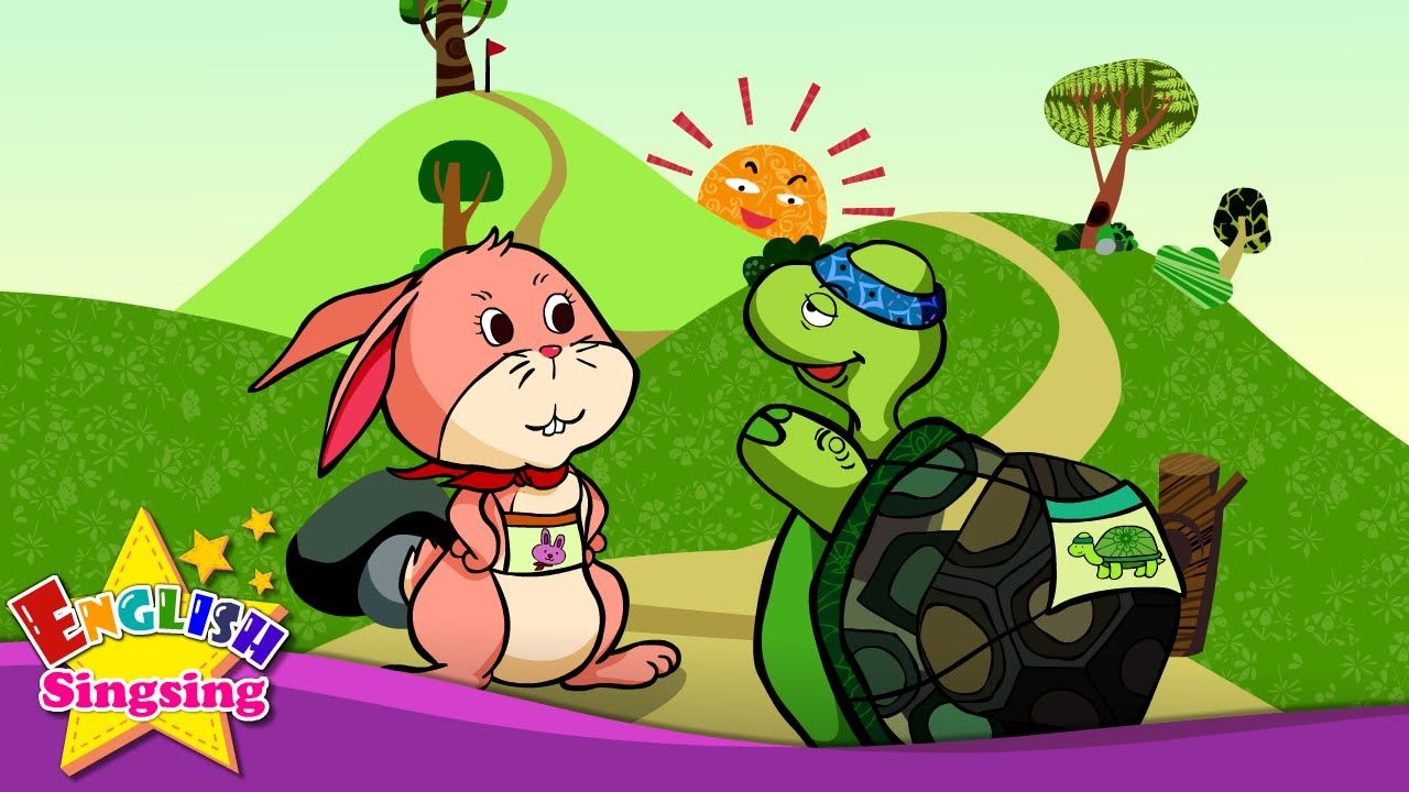 Resultado de imagen de The Tortoise and the Hare - Good morning (Greeting) - English Aesop´s Fables for kids