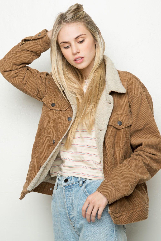 Brandy ♥ Melville | Elisha Fur Corduroy Jacket - Jackets ...