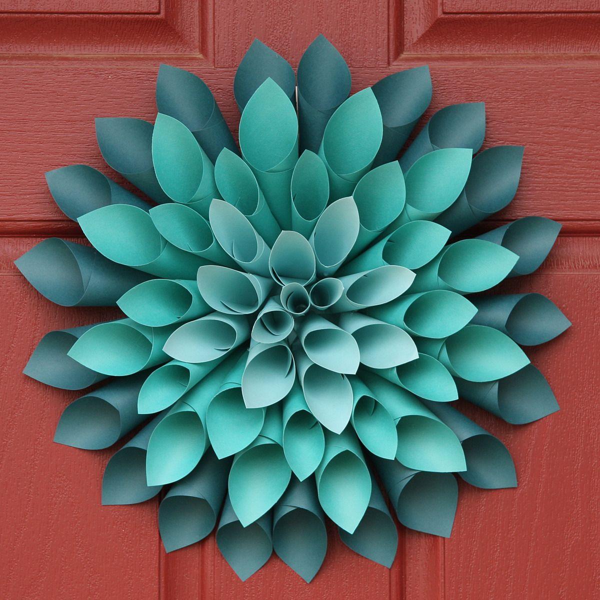 Dahlia Paper Flower Template Diy Paper Flowers Step By Step