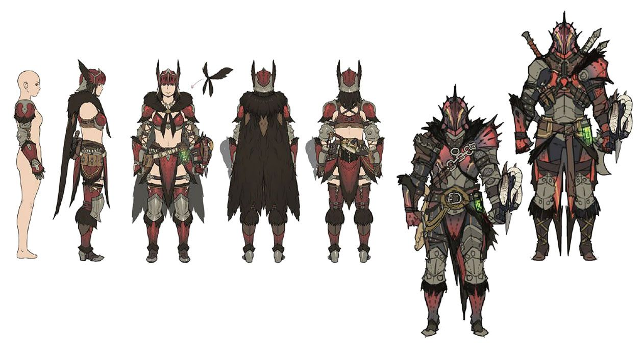 Female Anjanath Armor Art Monster Hunter World Art Gallery