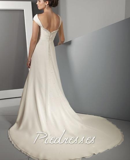 Cheap Wholesale New Style Off The Shoulder Sweetheart Chiffon 2011 Wedding Dress