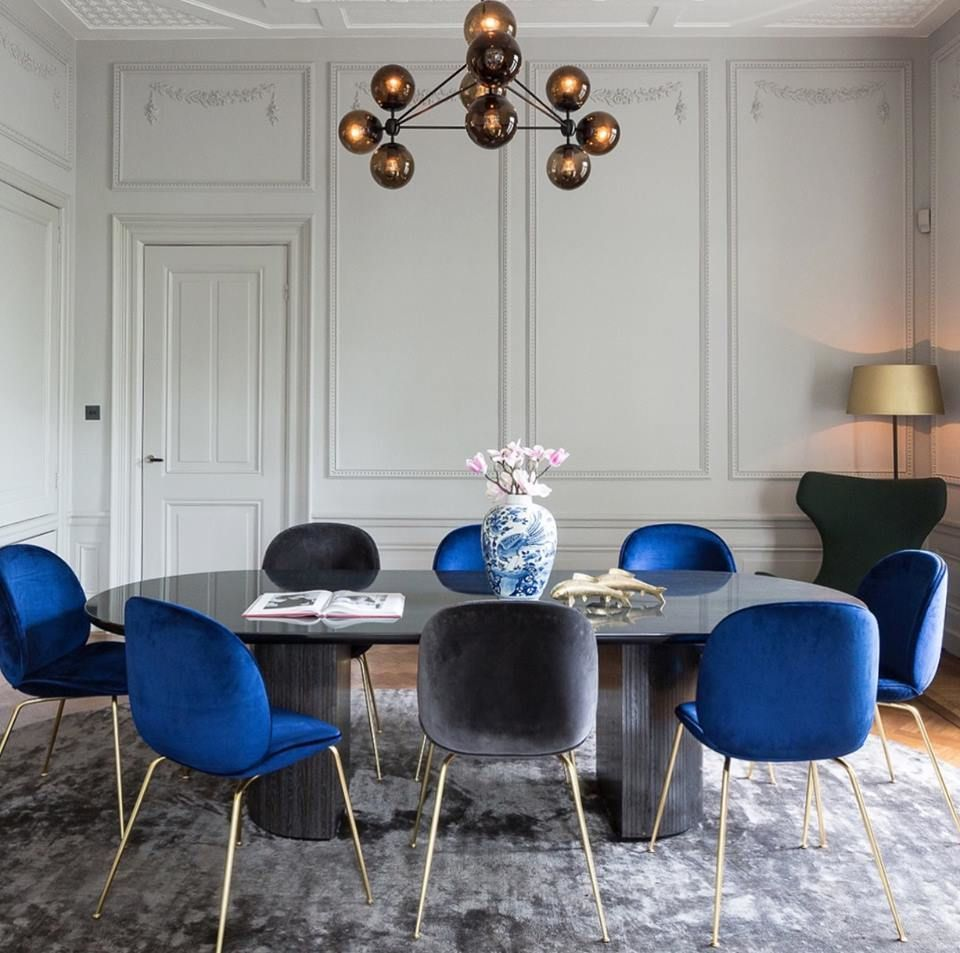 Gubi Beetle Chair By Gamfratesi And Moon Dining Table By Space